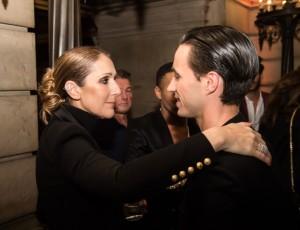 Céline Dion et Sébastien Bertaud